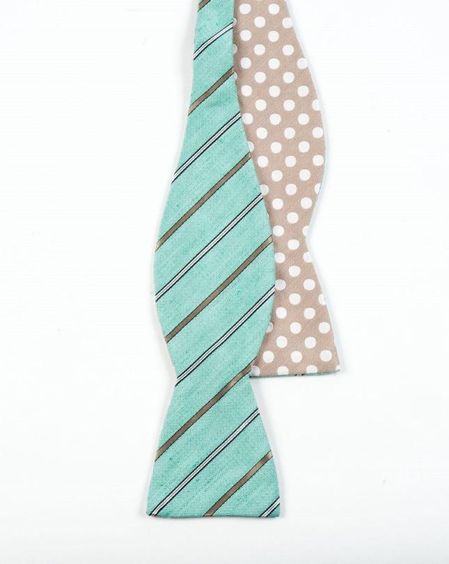 Cliffside Beach Dot Spearmint Bow Tie