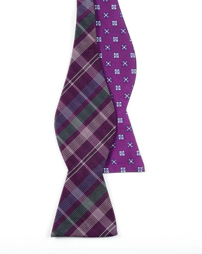 Plaid Juneberry Deep Azalea Bow Tie