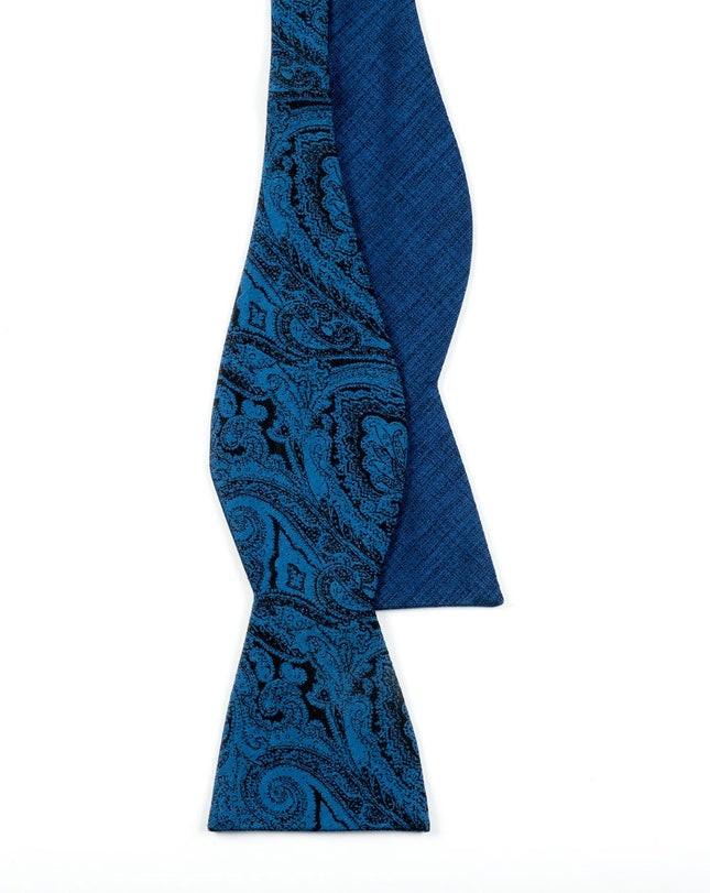 Debonair Paisley Navy Bow Tie