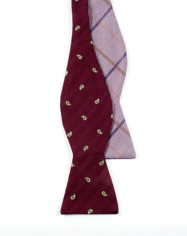 Subtle Sheridan Burgundy Bow Tie