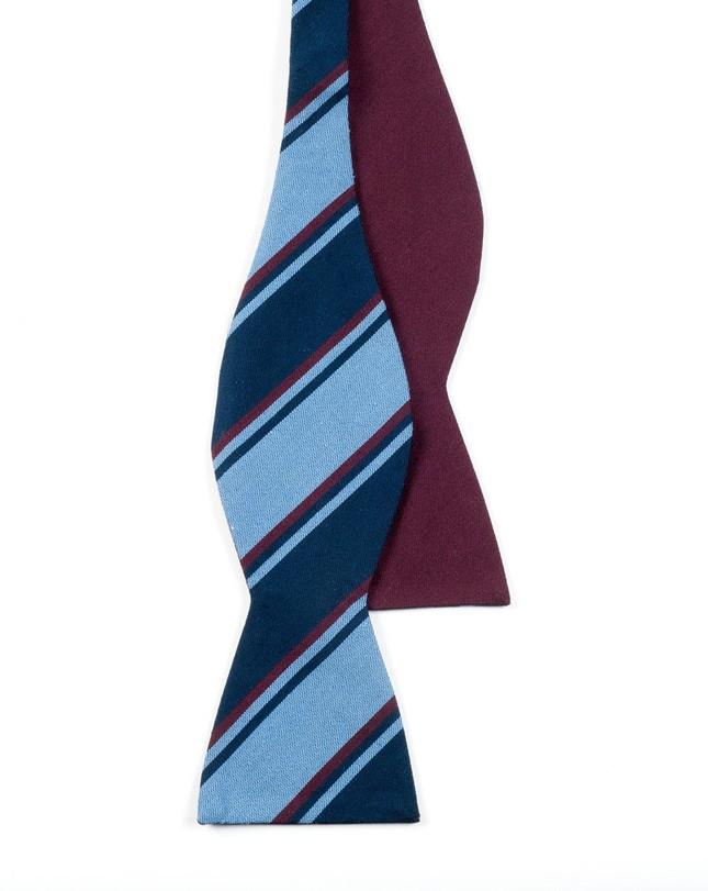 Charlotte Academy Burgundy Bow Tie