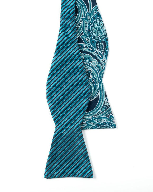 Banquet Paisley Navy Bow Tie