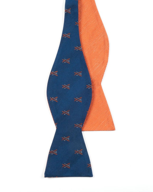 Skiing Solid Navy Bow Tie