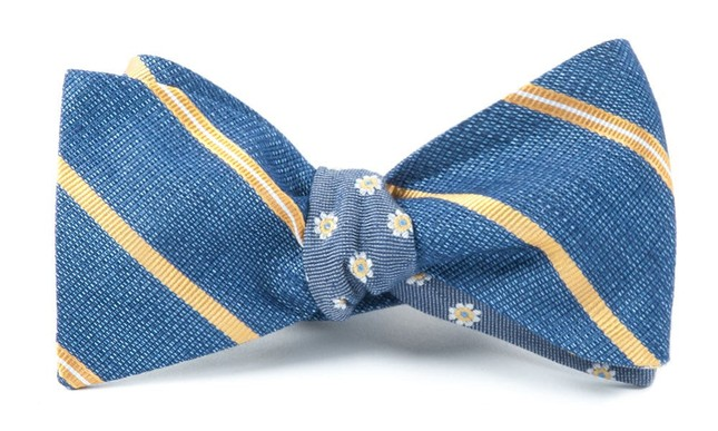 Editor Floral Gold Bow Tie