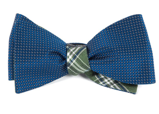 Pinpoint Marshall Navy Bow Tie