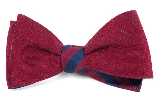 Festival Twill Stripe Red Bow Tie