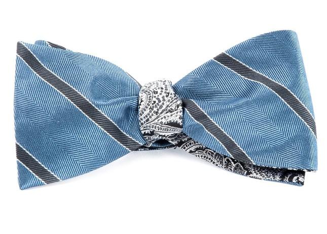 Kennedy Paisley Slate Blue Bow Tie