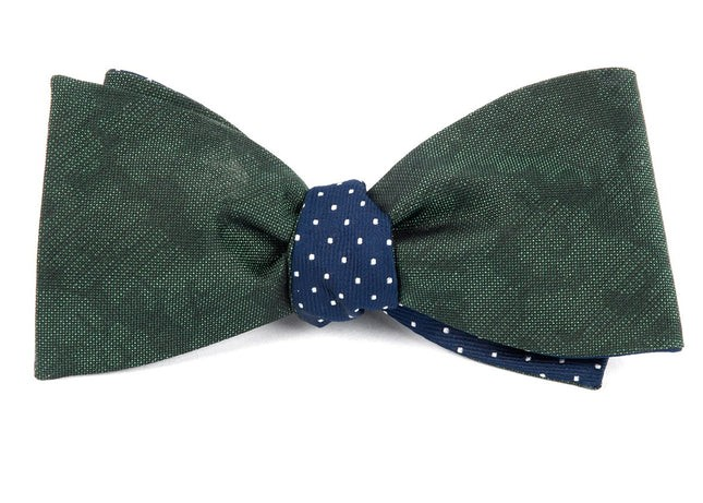 Refinado Dots Hunter Green Bow Tie