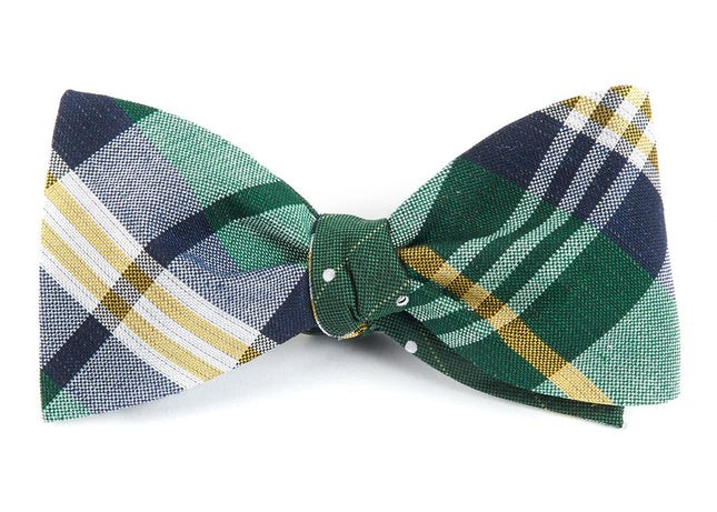 Crystal Wave Dots Green Bow Tie