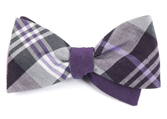 Crystal Wave Row Purple Bow Tie