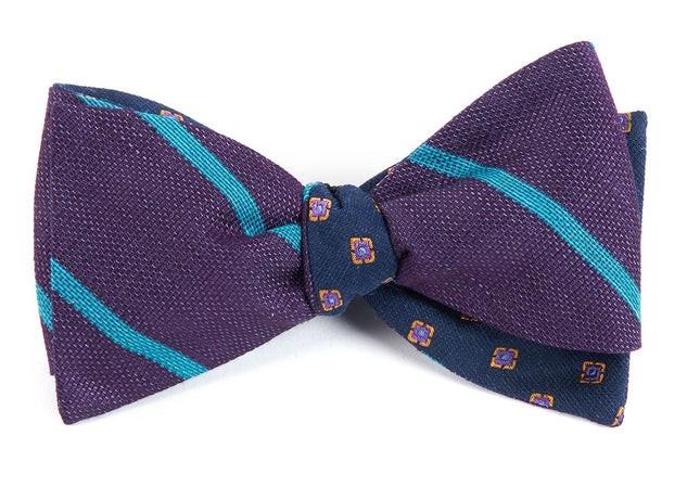 Spring Break Medallion Eggplant Bow Tie
