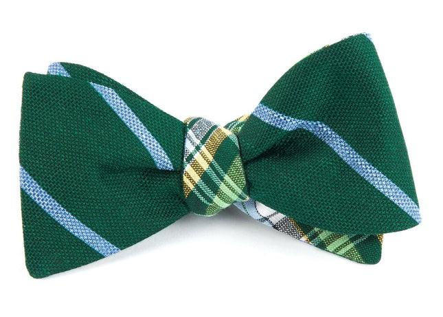 Spring Break Plaid Green Bow Tie