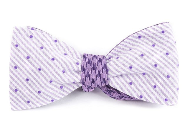 Aisle Houndstooth Purple Bow Tie