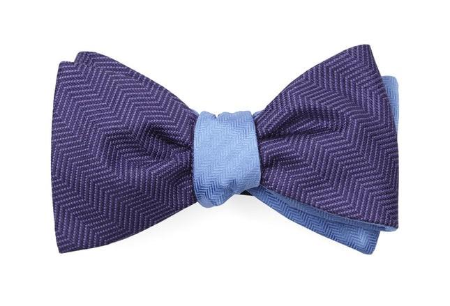 Verge Sound Wave Purple Bow Tie