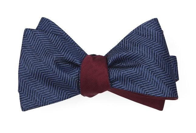 Verge Sound Wave Navy Bow Tie