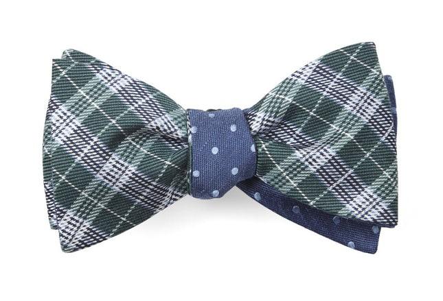 Emerson Dots Hunter Green Bow Tie
