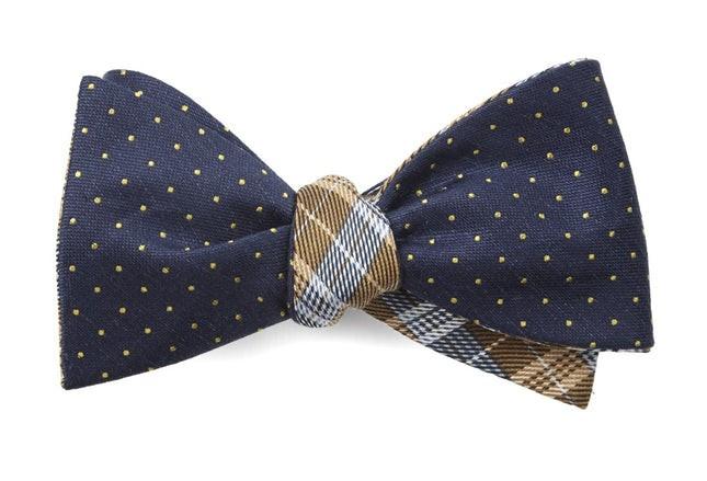 Rivington Plaid Navy Bow Tie