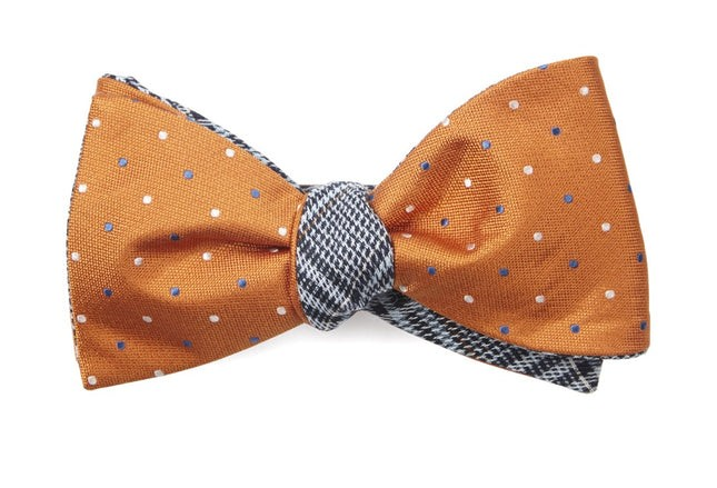 Jpl Plaid Orange Bow Tie