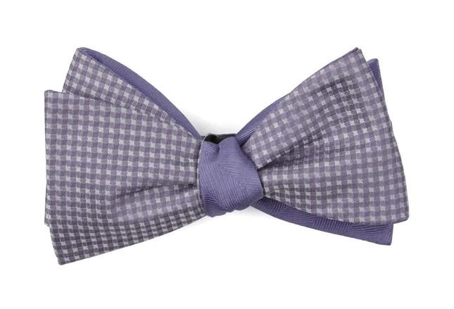 Be Married Herringbone Lavender Bow Tie