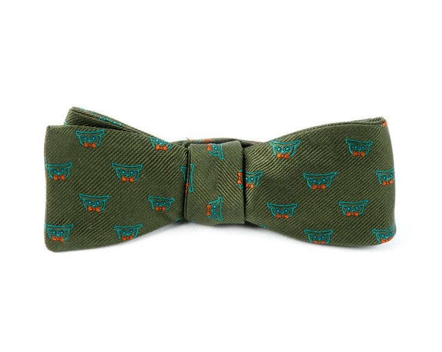 The Signature Army Green Bow Tie