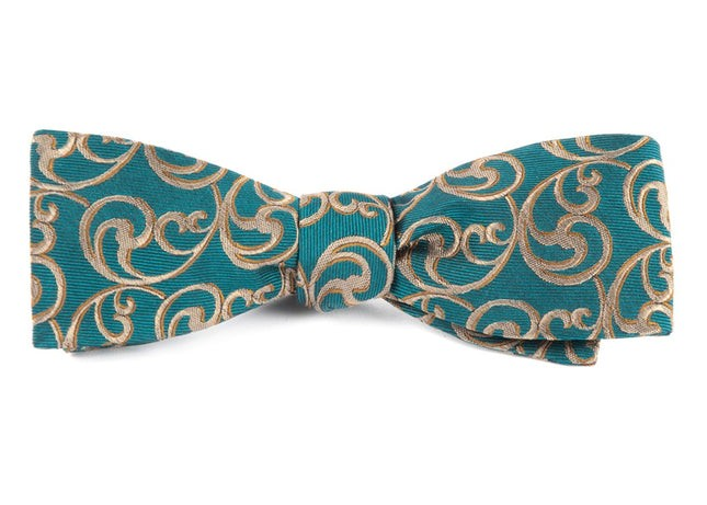 The Crawford Green Teal Bow Tie