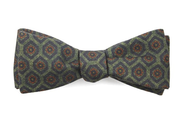 The Jefferson Olive Green Bow Tie