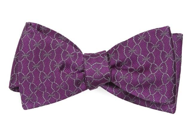 The Sean Hayes Magenta Bow Tie
