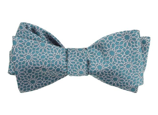 The Sinaloa Teal Bow Tie