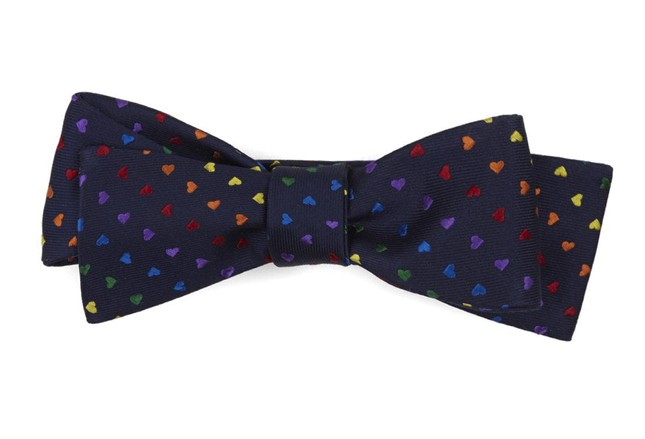Love Is Love Navy Bow Tie