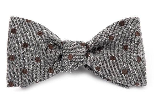 Revolve Dots Brown Bow Tie