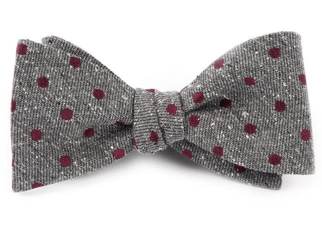 Revolve Dots Burgundy Bow Tie