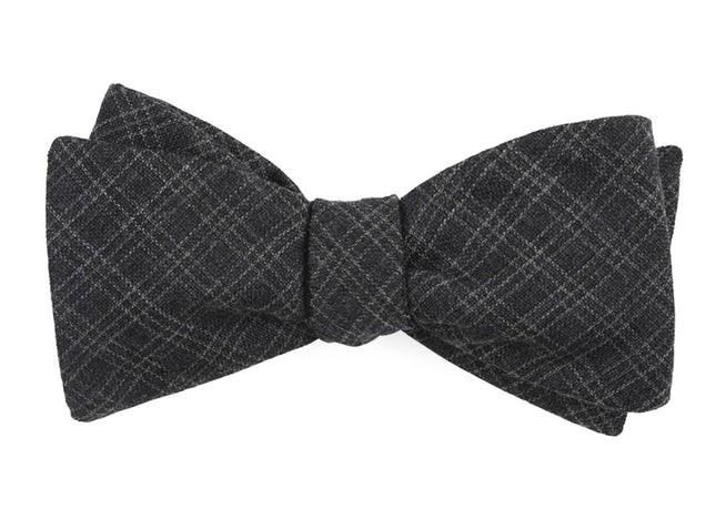 Pbl Plaid Charcoal Bow Tie