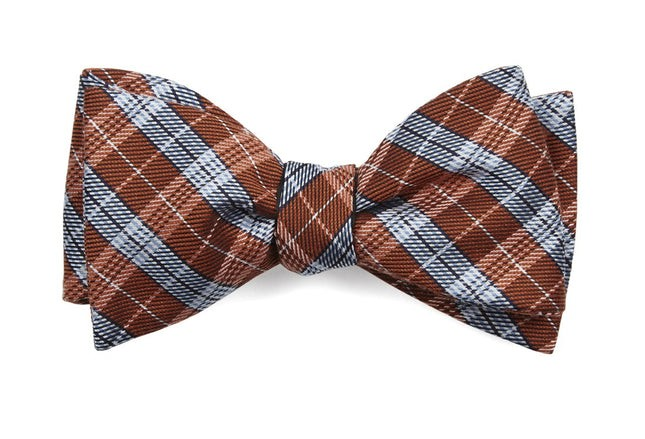 Emerson Plaid Orange Bow Tie