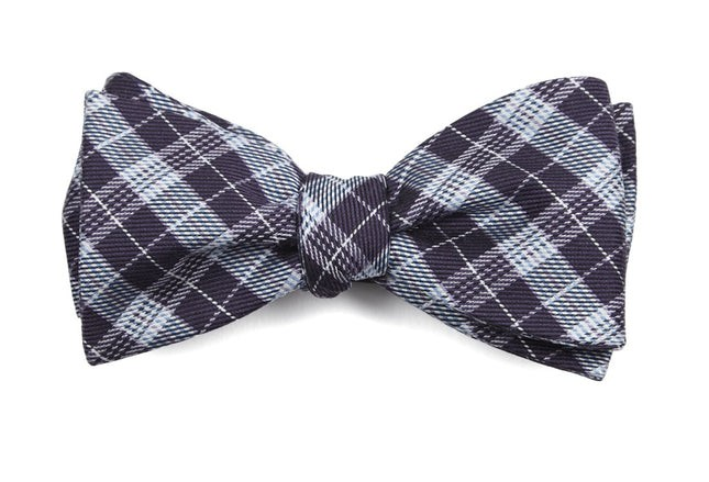 Emerson Plaid Eggplant Bow Tie