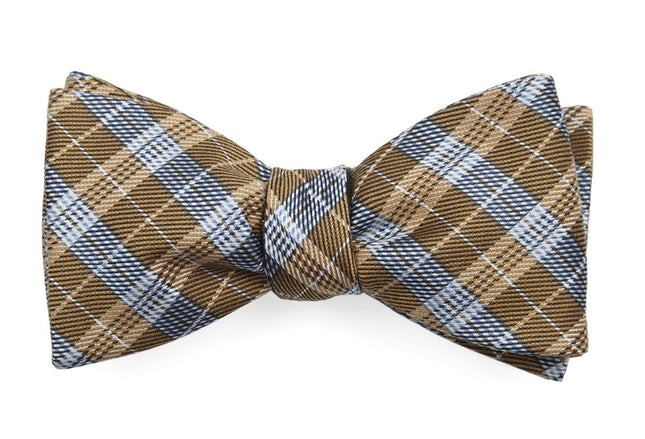 Emerson Plaid Mustard Bow Tie