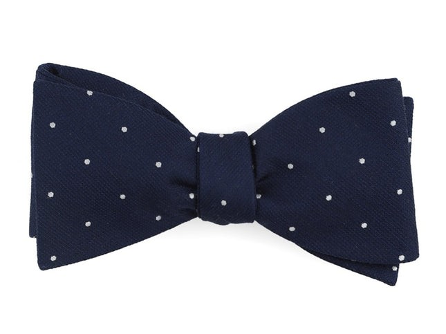 Dotted Report Navy Bow Tie