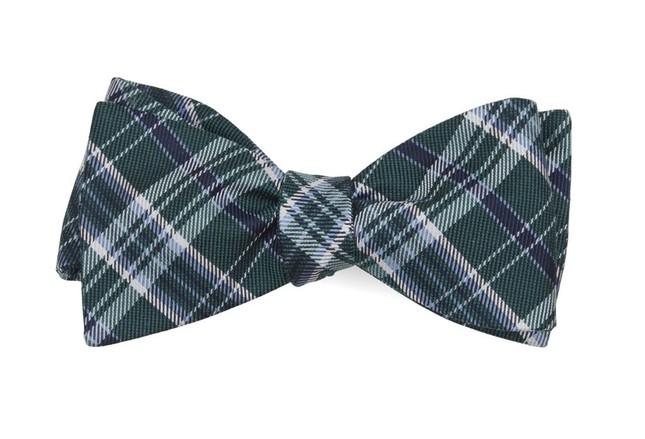 Andersen Plaid Hunter Green Bow Tie