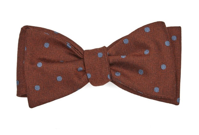 Dotted Hitch Orange Bow Tie