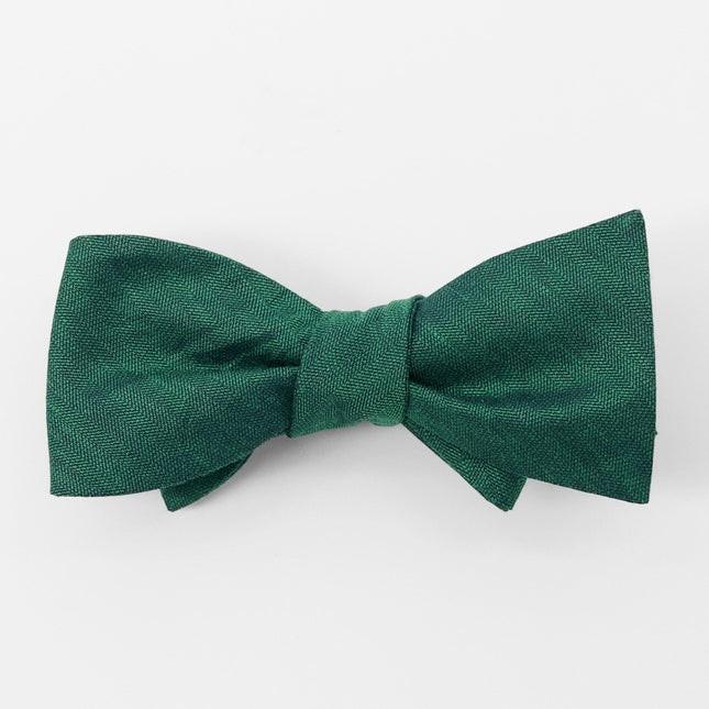 Bhldn Linen Row Hunter Green Bow Tie