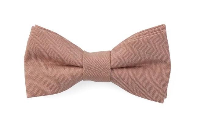 Bhldn Linen Row Rose Quartz Bow Tie