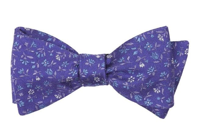 Floral Acres Purple Bow Tie