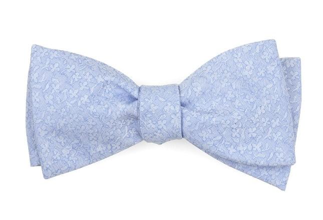 Floral Dip Light Blue Bow Tie
