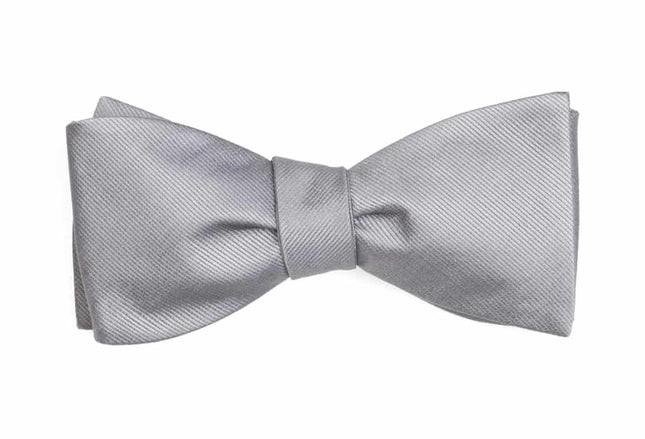 Grosgrain Solid Grey Bow Tie