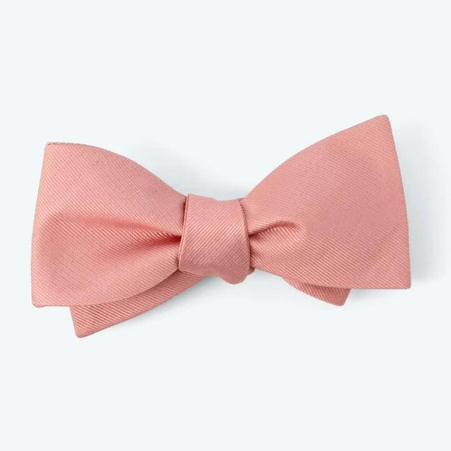 Grosgrain Solid Dusty Blush Bow Tie