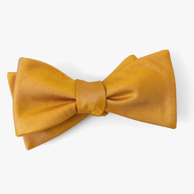 Herringbone Vow Marigold Bow Tie