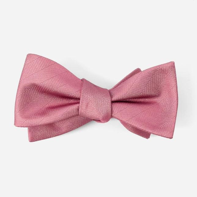 Herringbone Vow Rosewood Bow Tie