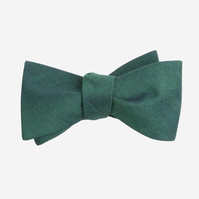 Linen Row Hunter Green Bow Tie