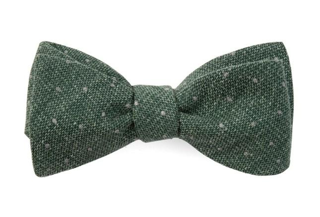 Redwood Dot Hunter Green Bow Tie