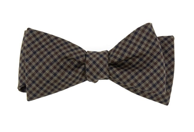 Stirling Checks Brown Bow Tie