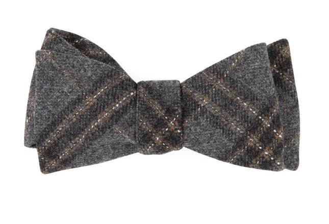 Barberis Wool Sotto Grey Bow Tie